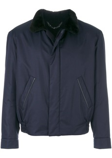 Brioni contrast collar jacket - Blue