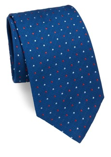 Brioni Contrast-Dot Silk Tie