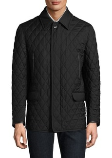 Brioni Diagonal Pattern Quilted Jacket