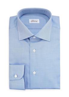 Brioni Diagonal Twill Dress Shirt