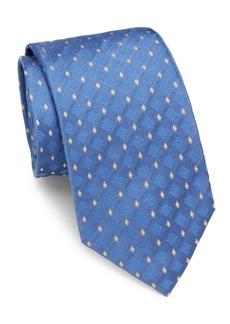Brioni Diamond Grid Silk Tie