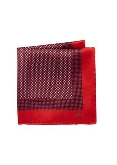 Brioni Diamond Silk Pocket Square