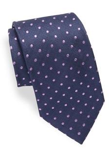 Brioni Dot Embroidered Silk Tie