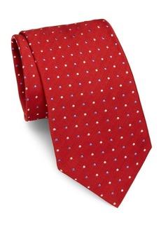 Brioni Dots Pattern Silk Tie