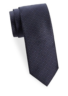 Brioni Dotted Floral Silk Tie