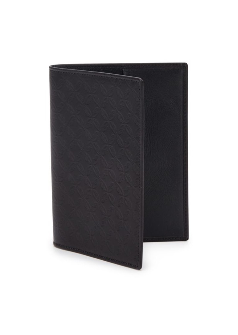 Brioni Embossed Leather Card Holder