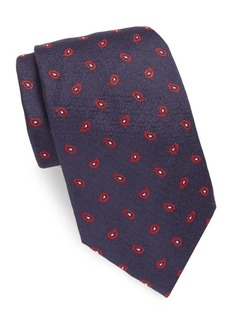 Brioni Embroidered Paisley Silk Tie