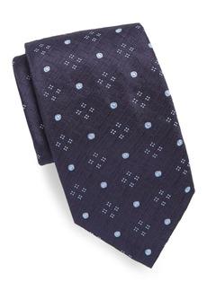 Brioni Embroidered Pattern Silk Tie