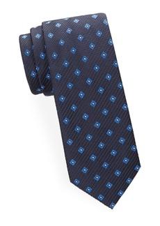Brioni Embroidered Square Silk Tie
