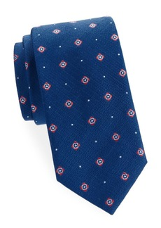 Brioni Embroidered Standard-Cut Silk Tie
