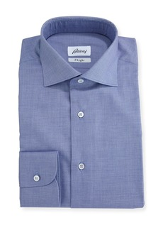 Brioni F-Light Sharkskin Dress Shirt