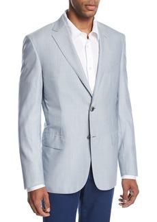 Brioni Fine-Line Wool-Silk Sport Coat