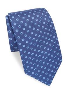 Brioni Floral Dot Silk Tie