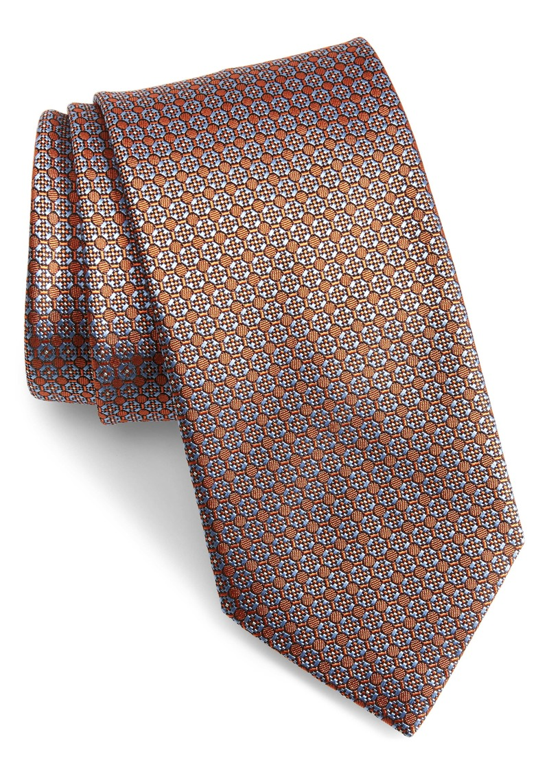 Brioni Floral Medallion Silk Tie