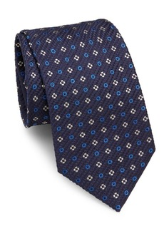 Brioni Floral Pattern Square Silk Tie
