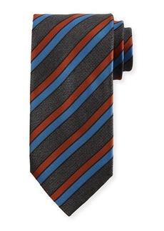 Brioni Four Stripe Silk Tie