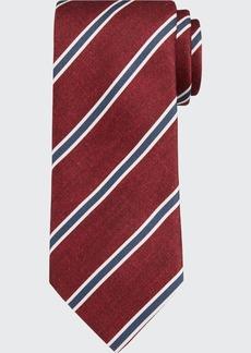 Brioni Framed Stripe Tie