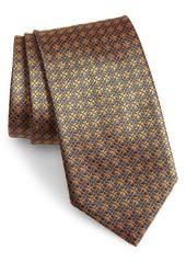 Brioni Geometric Floral Silk Tie