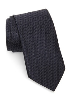 Brioni Geometric Flower Silk Tie