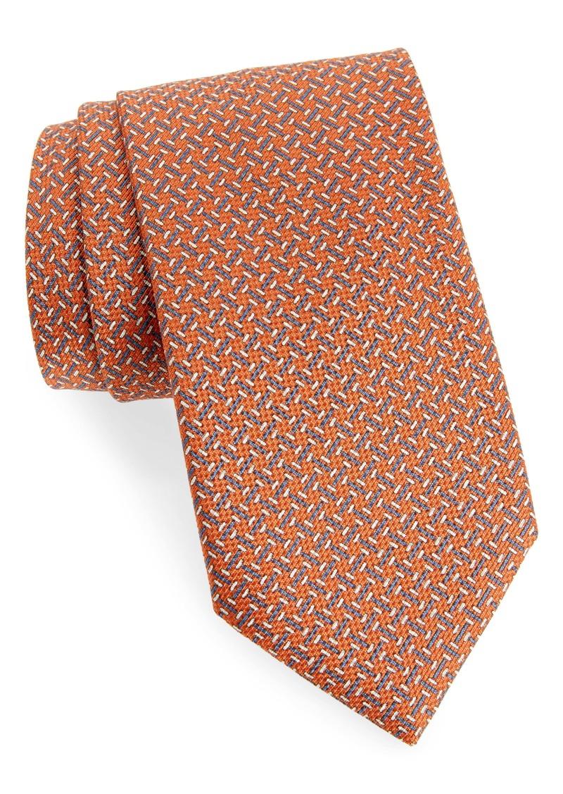 Brioni Geometric Pattern Silk Tie