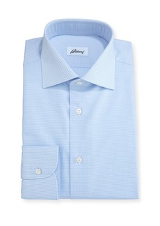 Brioni Geometric-Print Dress Shirt