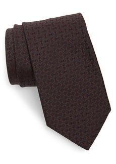 Brioni Geometric Weave Tie