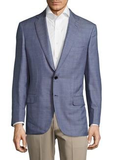 Brioni Glen Notch-Lapel Plaid Jacket