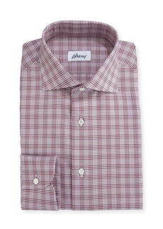 Brioni Houndstooth Plaid Dress Shirt