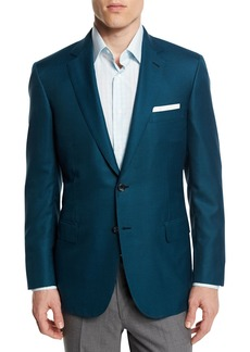 Brioni Houndstooth Wool-Blend Sport Coat