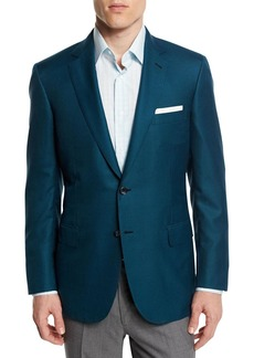 Brioni Houndstooth Wool-Blend Sport Coat  Green