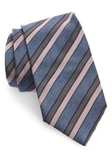 Brioni Jacquard Stripe Silk Tie