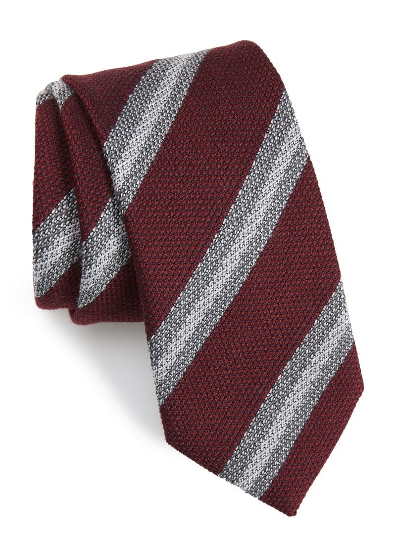 Brioni Knit Stripe Silk Tie