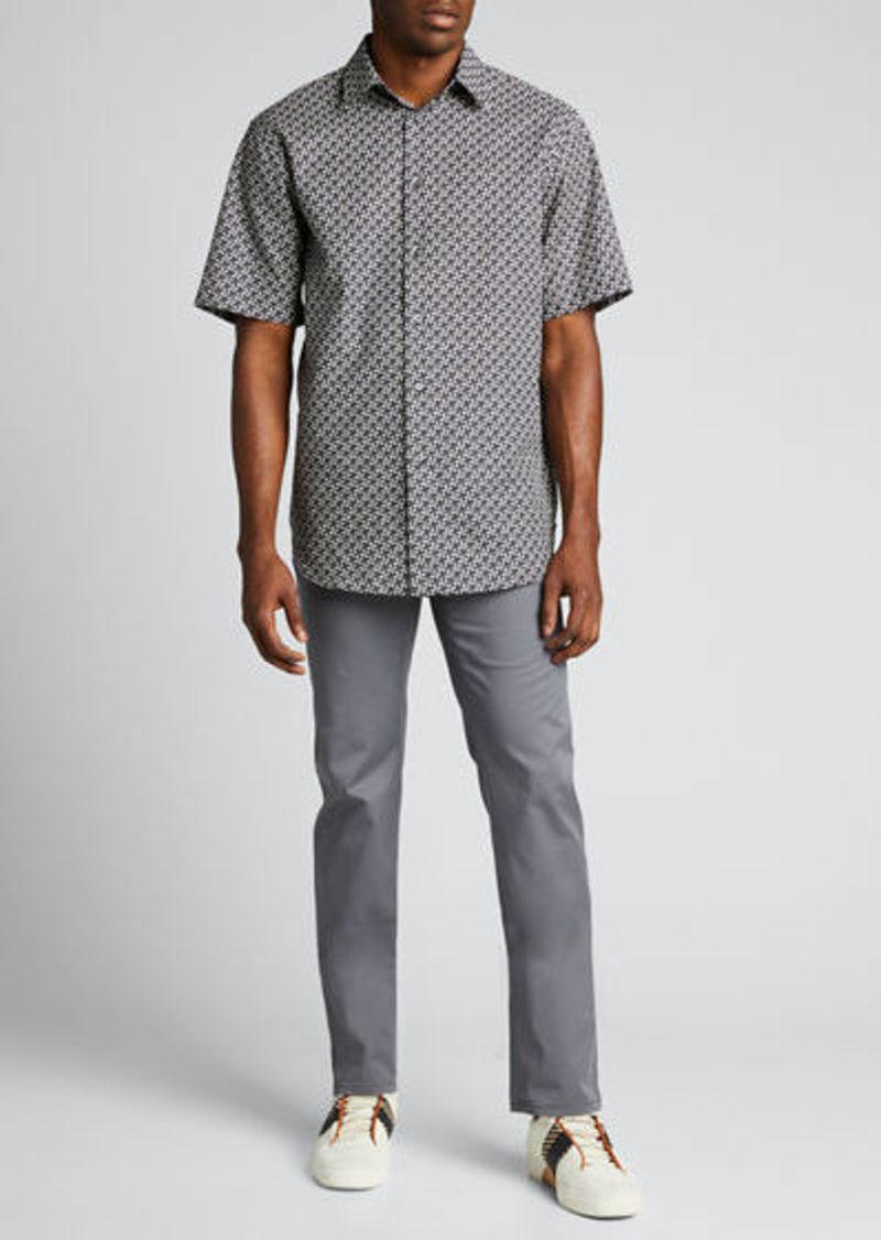 Brioni Men's 5-Pocket Twill Straight-Leg Pants
