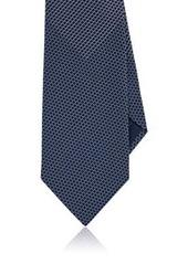 Brioni Men's Basket-Weave-Pattern Silk Necktie