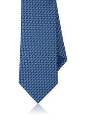 Brioni Men's Chain-Link-Print Silk Foulard Necktie