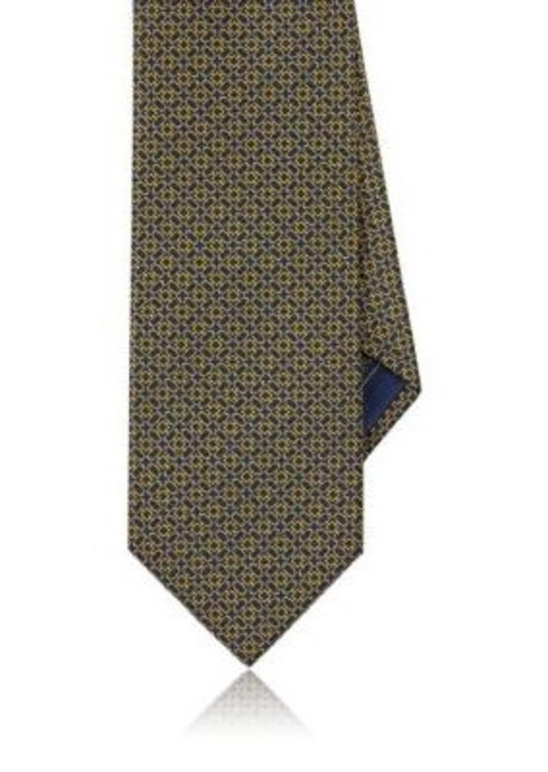 Brioni Men's Chain-Link-Print Silk Necktie