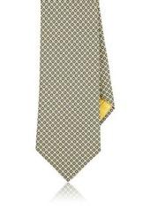 Brioni Men's Circle-Print Silk Necktie