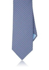 Brioni Men's Circle-Print Silk Necktie