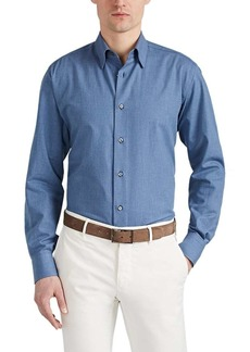 Brioni Men's Cotton Chambray Shirt