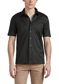 Brioni Men's Cotton Jersey Button-Front Shirt