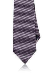 Brioni Men's Diamond Neat Silk Necktie