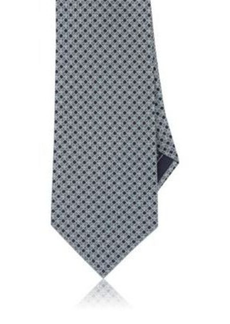 Brioni Men's Diamond-Print Silk Necktie