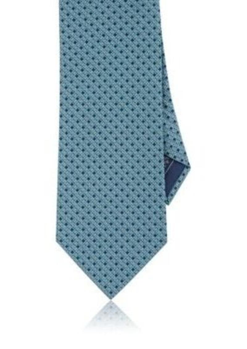 Brioni Men's Diamond-Print Silk Necktie-LIGHT BLUE