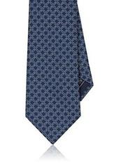 Brioni Men's Geometric-Print Silk Necktie