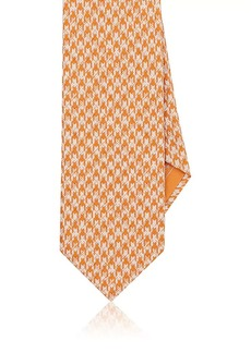Brioni Men's Geometric-Print Silk Satin Necktie