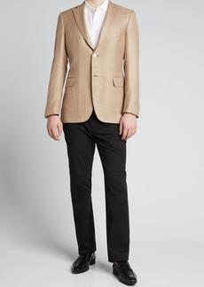 Brioni Men's Herringbone Two-Button Jacket