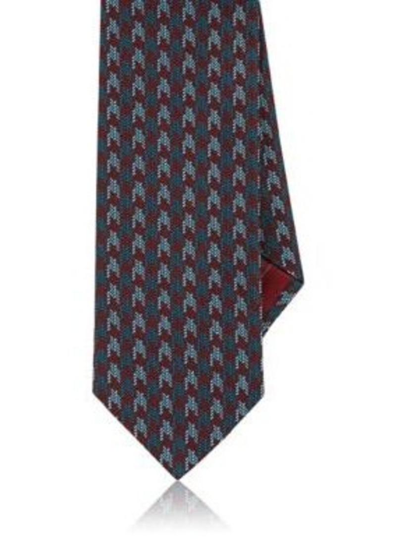 Brioni Men's Houndstooth Jacquard Silk Necktie