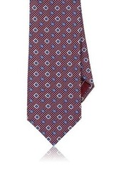 Brioni Men's Medallion-Patterned Silk Necktie