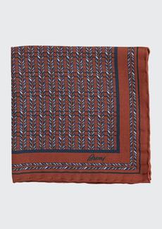 Brioni Men's Multi-Diagonal Rope Silk Pocket Square