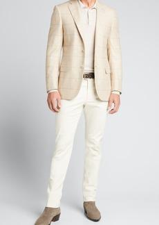 Brioni Men's Plaid Windowpane Sport Jacket